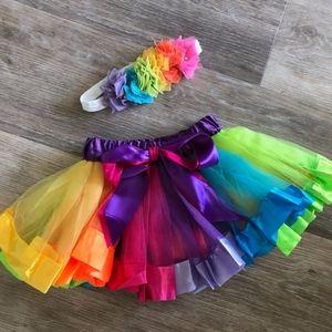 Rainbow unicorn toddler set tutu